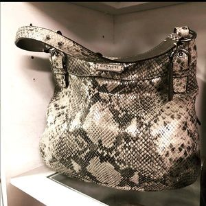 COACH, Exotic (Snakeskin) Leather Hobo